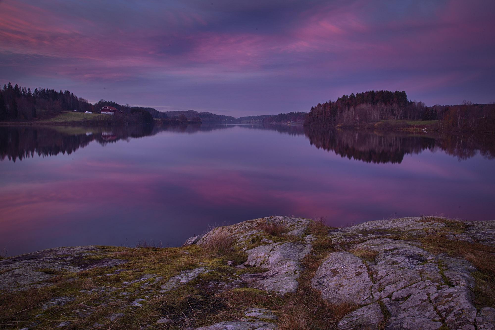025 - Blå kveld ved Årungen