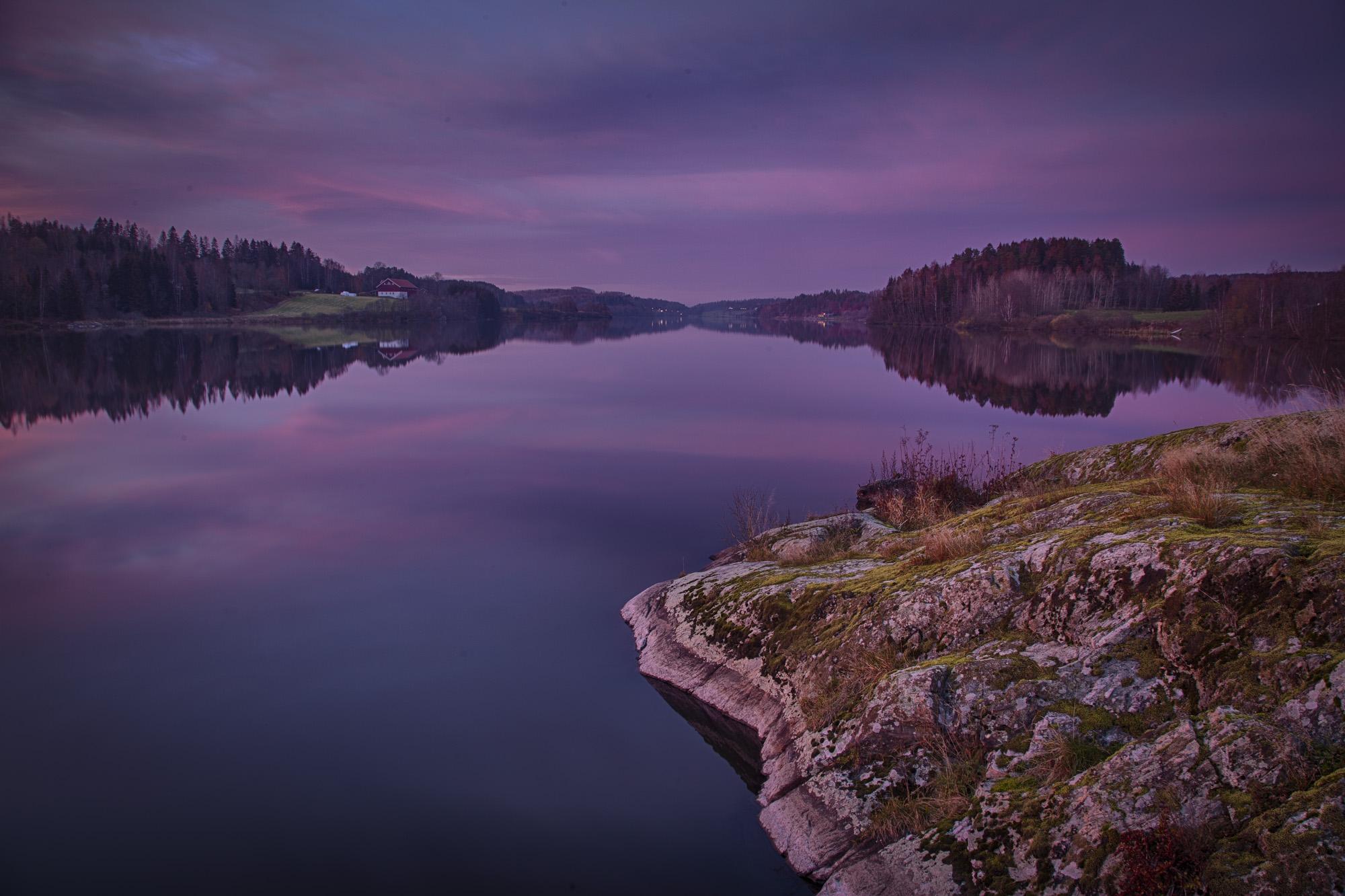 027 - Blå kveldsstund ved Årungen